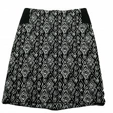 Buy Chicos Womens A Line Skirt Size 0.5 Small Black White Geometric Back Zip