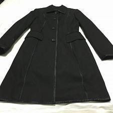 Buy Banana Republic Black cotton Coat Topcoat trench women Gothic size Small