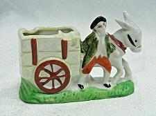 Buy Vintage Man with Donkey pulling a Cart Figural Ashtray Japan Tobacciana