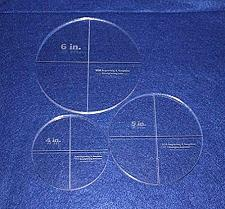 """Buy Circle Template Actual Size 3 Piece Set. 4"""",5"""",6"""" - Clear ~3/8"""" Thick"""
