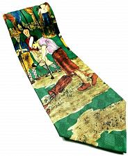 Buy Lord & Taylor Men's Old Time Golf Course Player Necktie 100% Silk Novelty