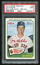 Buy 2014 TOPPS HERITAGE REAL ONE RED AUTO JAY RITCHIE PSA 9 MINT (25220616)