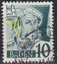 Buy GERMANY Alliiert Franz. Zone [Baden] MiNr 0033 y II ( O/used ) [02]