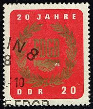 Buy Germany DDR #773 Free German Trade Union; CTO (0.25) (2Stars) |DDR0773-02
