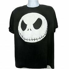 Buy Disney Nightmare Before Christmas Jack Skellington T-Shirt XL Black Short Sleeve
