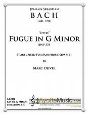 Buy Bach - Little Fugue in G Minor for Saxophone Quartet