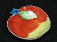 Buy Occupied Japan Vintage Porcelain Apple Figural Ashtray Snuffer Japan Fruit