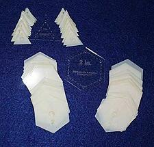 """Buy Mylar 2"""" Hexagon & 1"""" Equilateral Triangle 102 Piece Set - Quilting / Sewing Tem"""