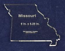 """Buy State of Missoouri Template 6"""" X 5.25"""" - Clear ~1/4"""" Thick Acrylic"""