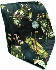 Buy Fratello Golf Balls Bags Clubs All Over Print Sports Novelty Polyester Tie