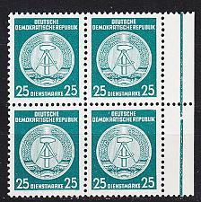 Buy GERMANY DDR [Dienst A] MiNr 0023 I 4er ( **/mnh )