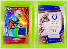 Buy NFL Marlon Mack Indianapolis Colts 2017 Panini Prizm Premier Game Worn Jersey