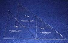 """Buy Triangle Templates. 6"""", 7"""", 8"""" - Clear 1/8"""""""