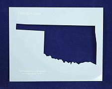 Buy State of Oklahoma Stencil 14 Mil Mylar - Painting /Crafts/ Templates