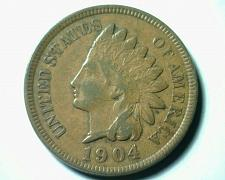 Buy 1904 INDIAN CENT PENNY EXTRA FINE / ABOUT UNCIRCULATED XF/AU NICE COIN EF/AU