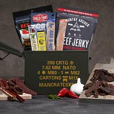 Buy Premium Beef Jerky Ammo Can crate men gift set Fast Free Shipping USA