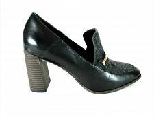 Buy DKNY Black Gray Leather Fabric Slip On Pumps Heels Shoes Women's 7 (SW15)