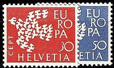 Buy SCHWEIZ SWITZERLAND [1961] MiNr 0736-37 ( **/mnh ) CEPT