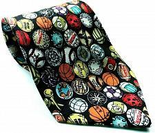 Buy Nicole Miller Sports Balls Soccer Bowling Pool Baseball Tennis Silk Necktie