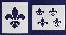 """Buy Mylar 2 Pieces of 14 Mil 8"""" X 10"""" Fleur-De-Lis Stencils- Painting /Crafts/ Templ"""