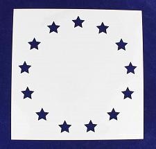 "Buy 13 Star Revolutionary Field Stencil 14 Mil -13"" x 13"" - Painting /Crafts/ Templa"
