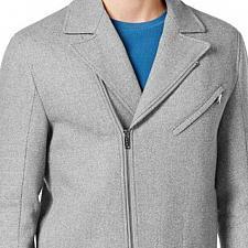 Buy Michael Kors Ash Motorcycle wool coat