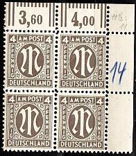 Buy GERMANY Alliiert AmBri [1945] MiNr 0018 C ( **/mnh ) [01] 4er