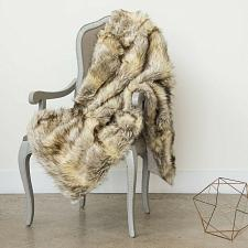 Buy Throw Blanket Faux Fur Lounge Couch Sofa Bed Accent Decor Wild Mannered