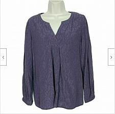 Buy J Jill Womens Petites Blouse Top Size XS Geometric Purple V Neck Long Sleeve