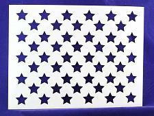 "Buy 50 Star Field Stencil 14 Mil -14.8""W x11.1""H - Painting /Crafts/ Templates"