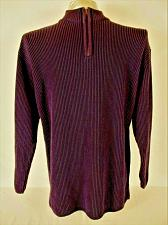 Buy ST JOHNS BAY mens Sz XL purple RIBBED 1/4 ZIP 100% cotton HEAVY sweater (A7)