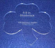 """Buy Shamrock 6 1/2"""" Height & Width - Clear 1/4"""" Thick Acrylic"""