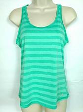 Buy Avia Women's Racerback Tank Top Small Pastel Green Striped Scoop Neck Sleeveless