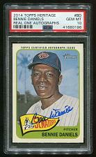 Buy 2014 TOPPS HERITAGE REAL ONE AUTO BENNIE DANIELS, PSA 10 GEM MINT (41680196)