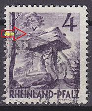 Buy GERMANY Alliiert Franz. Zone [RheinlPfalz] MiNr 0033 y b III ( O/used )