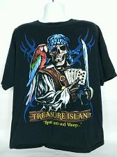 Buy Treasure Island Read'em And Weep Pirate Parrot Playing Cards Men's T Shirt 2X