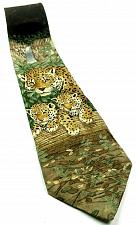 Buy Endangered Species Jaguar Jungle Animal Cat Nature Waterfall Novelty Silk Tie