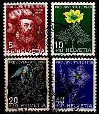 Buy SCHWEIZ SWITZERLAND [1949] MiNr 0541-44 ( O/used ) [01] Pro Juventute