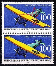 Buy GERMANY BUND [1991] MiNr 1524 F19 2er ( **/mnh ) [01] Flugzeug Plattenfehler