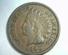 Buy 1890 INDIAN CENT PENNY EXTRA FINE XF EXTREMELY FINE EF NICE ORIGINAL COIN