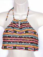 Buy YMI Women's Halter Bikini Swimsuit Top Size Large Boho Aztec Blue Orange Pink
