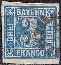 Buy GERMANY Bayern Bavaria [1850] MiNr 0002 II ( O/used ) [05]