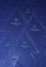 "Buy Diamond Templates 2"", 3"", 4"" 5"", 6"", 7"", 8"" - Clear ~1/4"" 60 Degree"