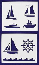 "Buy Boat Stencils Mylar 2 Pieces of 14 Mil 8"" X 10"" - Painting /Crafts/ Templates"