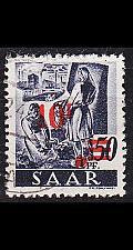Buy GERMANY Saar [1947] MiNr 0235 II/I ( O/used ) [03]