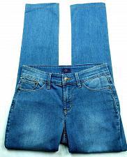 Buy NYDJ Womens Evansdale Slim Straight Jeans Size 2 Medium Wash Stretch Denim