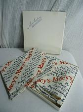 Buy Vintage Macy's Linen Crystal Glass Tea Towels New Old Stock Boxed Set of 2 Adver