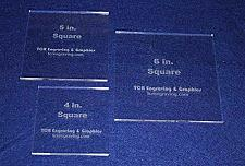 "Buy Square Templates. 3 Piece Set 4"", 5"", 6"" - No Seam -Clear ~1/4"""