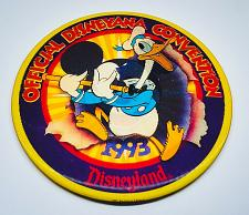 "Buy 1993 WALT DISNEY WORLD CONVENTION 5"" 3-D COLLECTIBLE PINBACK BUTTON RARE"