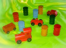 Buy VINTAGE 12 PIECE WOODEN MAGNETIC TRAIN COLLECTION MINT